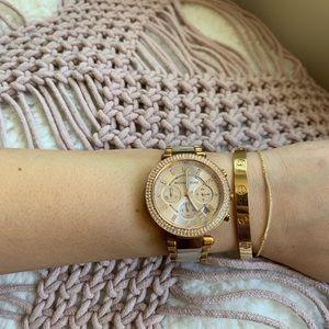 MichaelKors Parker Rose Gold Blush Acetate Watch
